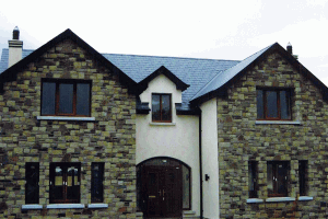 House with Cream and Brown Sandstone Mixed