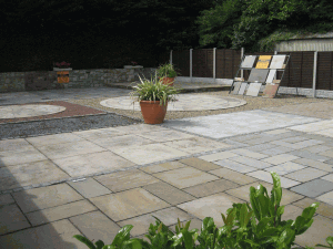 paving and patio display at kilkea stone yard indian sandstone specialists